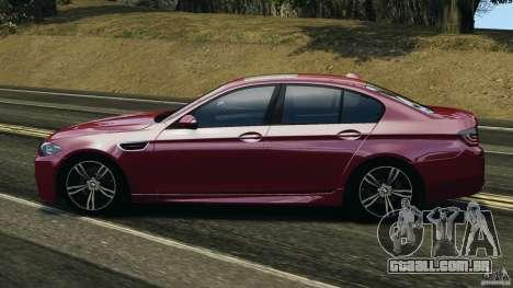 BMW M5 2012 para GTA 4 esquerda vista