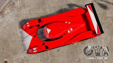 Toyota GT-One TS020 para GTA 4 vista direita