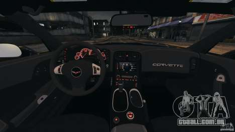 Chevrolet Corvette ZR1 para GTA 4 vista inferior
