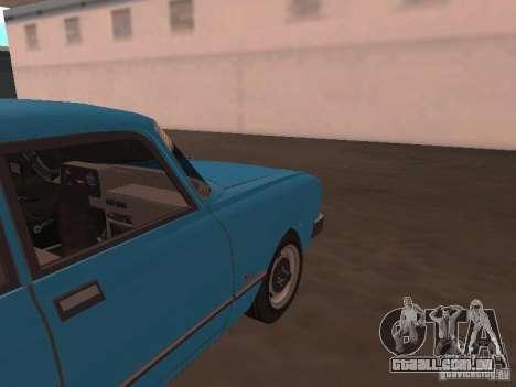SL Moskvich 2140 para GTA San Andreas vista traseira