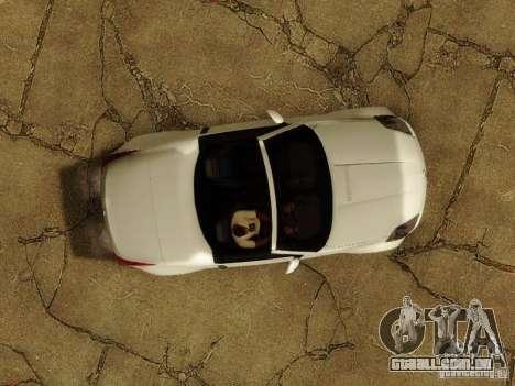 Nissan 350Z Cabrio para vista lateral GTA San Andreas