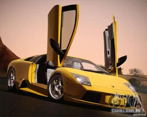 Lamborghini Murcielago 2002 v 1.0 para GTA San Andreas vista superior