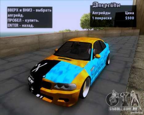 BMW 3-er E46 Dope para vista lateral GTA San Andreas