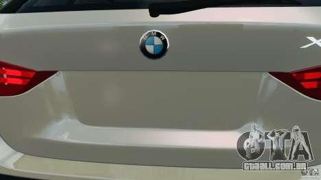 BMW X1 para GTA 4 vista inferior