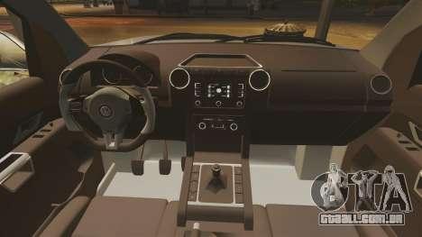 Volkswagen Amarok TDI para GTA 4 vista interior