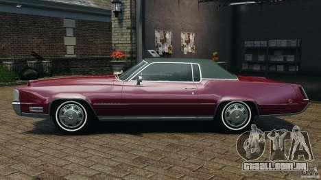 Cadillac Eldorado 1968 para GTA 4 esquerda vista