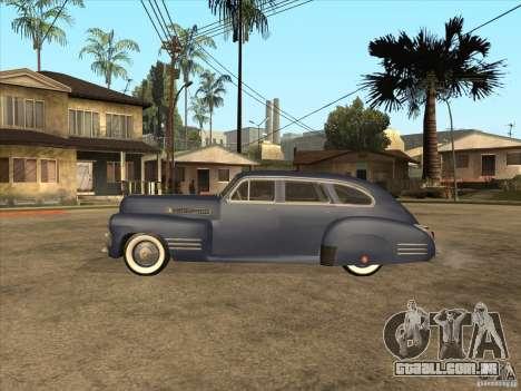 Cadillac 61 1941 para GTA San Andreas traseira esquerda vista