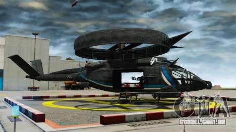 Helicóptero de transporte Samson SA-2 para GTA 4 esquerda vista