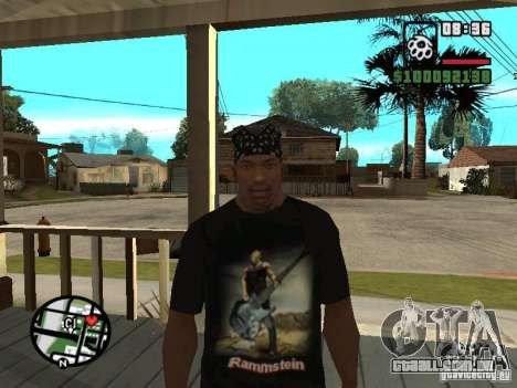 Rammstein t-shirt v1 para GTA San Andreas