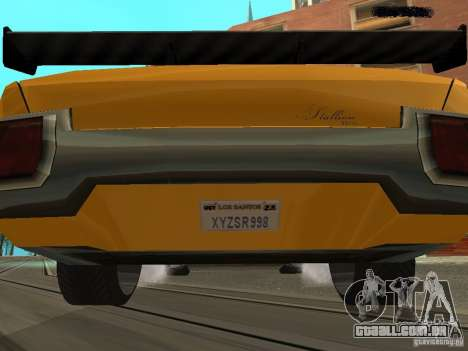 Stallion HD para GTA San Andreas esquerda vista