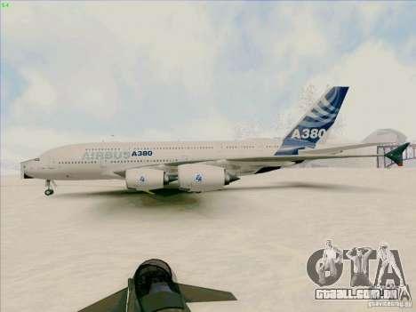 Airbus A380-800 para GTA San Andreas traseira esquerda vista