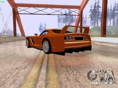 Dodge Viper GTS-R Concept para GTA San Andreas vista direita