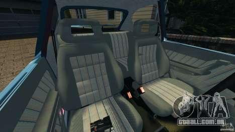 Chevrolet Kadett GSI para GTA 4 vista interior