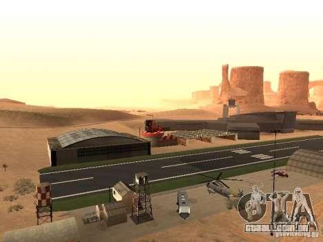 O novo aeroporto para GTA San Andreas segunda tela