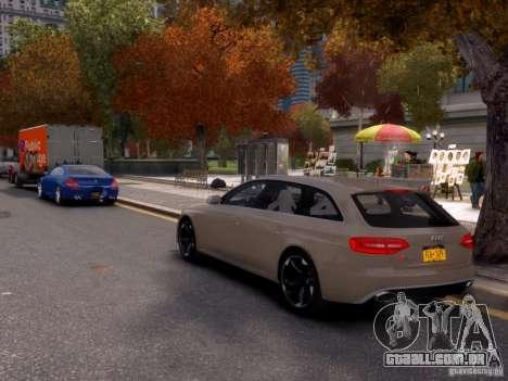 Audi RS4 Avant 2013 para GTA 4 traseira esquerda vista