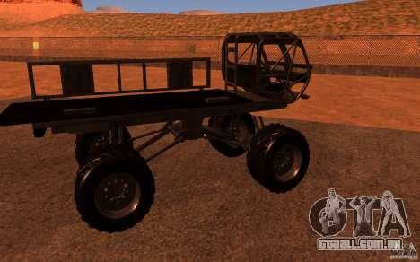 Heist Truck para GTA San Andreas vista direita