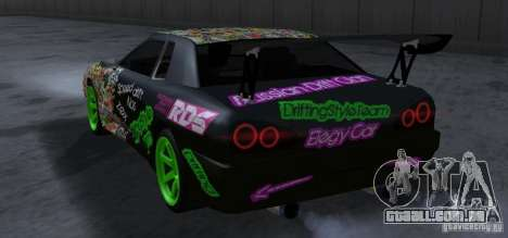 New Elegy DriftingStyleTeam para GTA San Andreas vista traseira