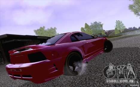 Ford Mustang SVT Cobra 2003 Black wheels para GTA San Andreas traseira esquerda vista