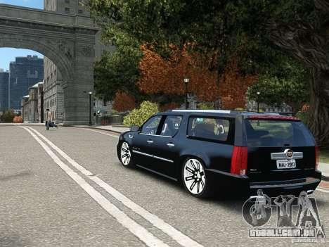 Cadillac Escalade ESV 2012 DUB para GTA 4 vista direita