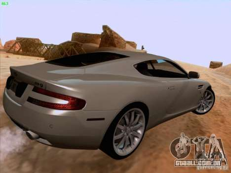 Aston Martin DB9 para GTA San Andreas vista superior