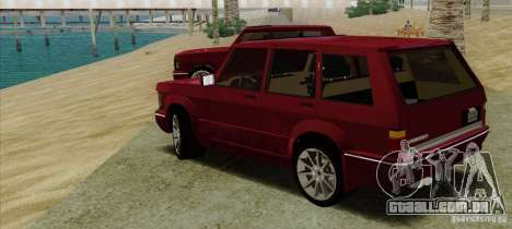 Huntley Freelander para GTA San Andreas esquerda vista