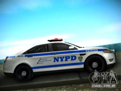 Ford Taurus NYPD 2011 para GTA San Andreas vista traseira