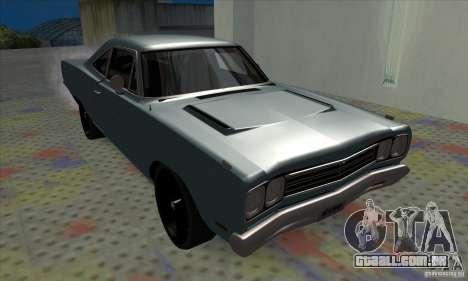 Plymouth Roadrunner para GTA San Andreas esquerda vista