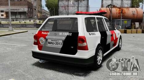 Volkswagen Parati G4 PMESP ELS para GTA 4 traseira esquerda vista