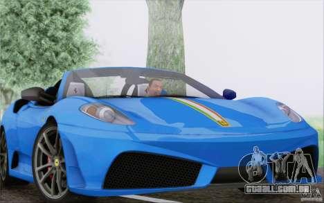 Ferrari F430 Scuderia Spider 16M para GTA San Andreas vista superior
