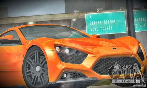 Zenvo ST1 2010 para vista lateral GTA San Andreas