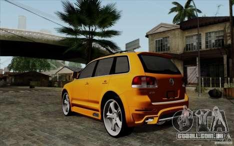 Volkswagen Touareg R50 Light para GTA San Andreas traseira esquerda vista