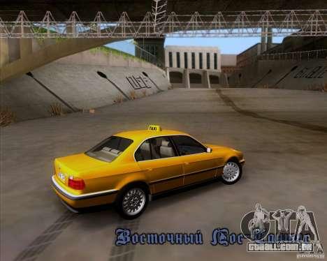 BMW 730i E38 1996 Taxi para GTA San Andreas vista superior