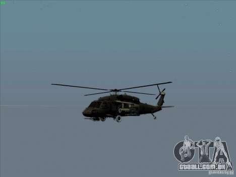 S-70 Battlehawk para vista lateral GTA San Andreas