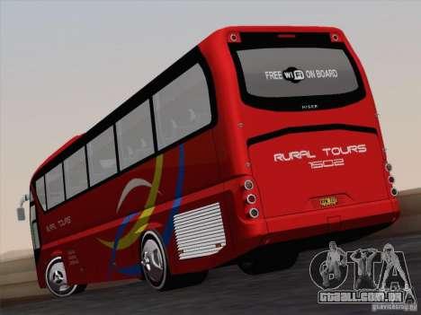 Neoplan Tourliner. Rural Tours 1502 para GTA San Andreas vista interior