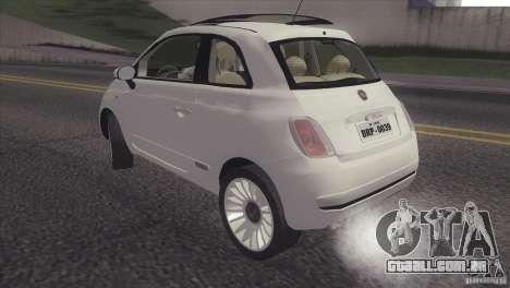Fiat 500 Lounge 2010 para GTA San Andreas traseira esquerda vista