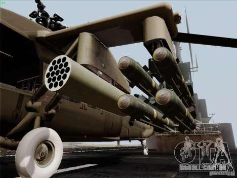 S-70 Battlehawk para GTA San Andreas vista direita