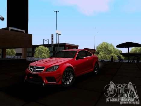 Mercedes-Benz C63 AMG 2012 Black Series para GTA San Andreas esquerda vista