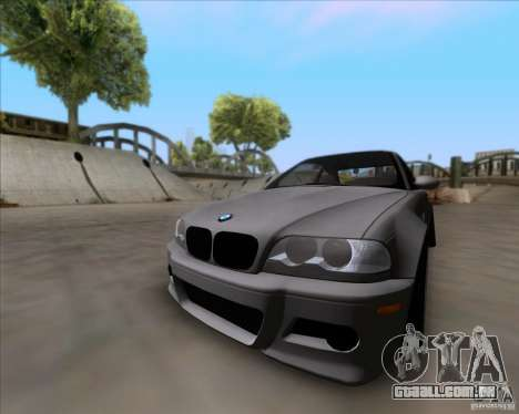 BMW 3-er E46 Dope para GTA San Andreas traseira esquerda vista