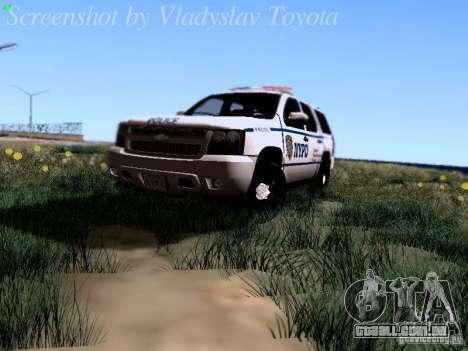 Chevrolet Tahoe 2007 NYPD para GTA San Andreas