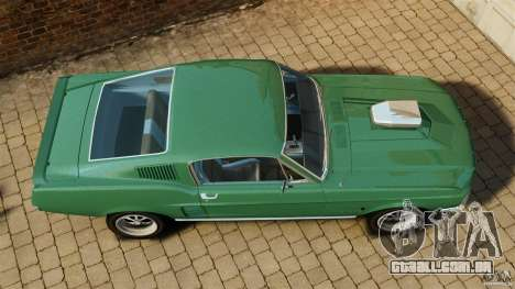 Ford Mustang 1967 para GTA 4 vista direita