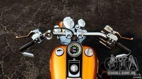 Harley Davidson Fat Boy Lo Vintage para GTA 4 vista de volta