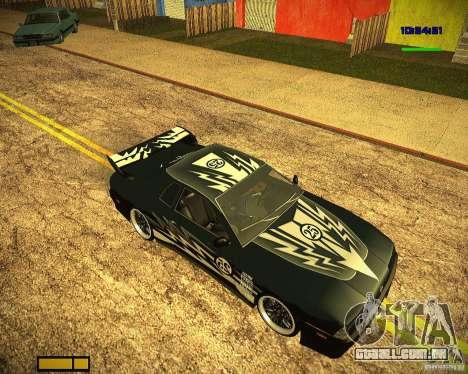 Pak vinis para Elegy para GTA San Andreas traseira esquerda vista