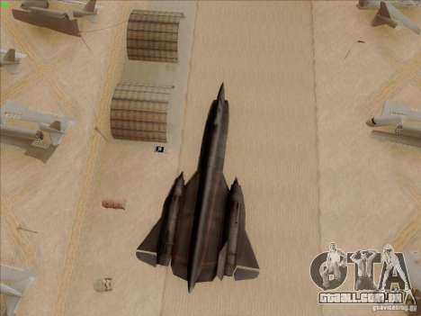 YF-12A para GTA San Andreas vista superior