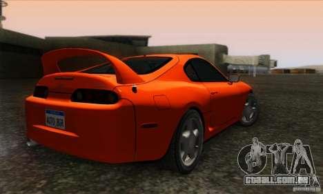 Toyota Supra Tunable para GTA San Andreas esquerda vista