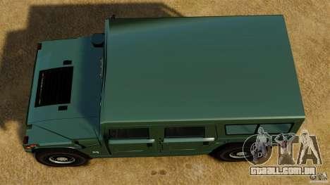 Hummer H1 Alpha para GTA 4 vista direita