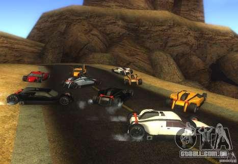 Guarda para GTA San Andreas traseira esquerda vista