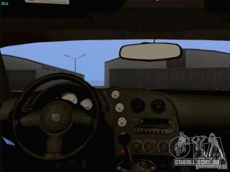Dodge Viper GTS-R Concept para GTA San Andreas vista superior