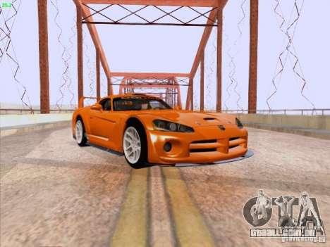 Dodge Viper GTS-R Concept para GTA San Andreas esquerda vista