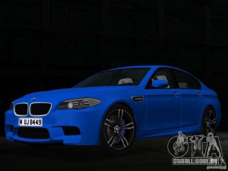 BMW M5 F10 2012 para GTA Vice City