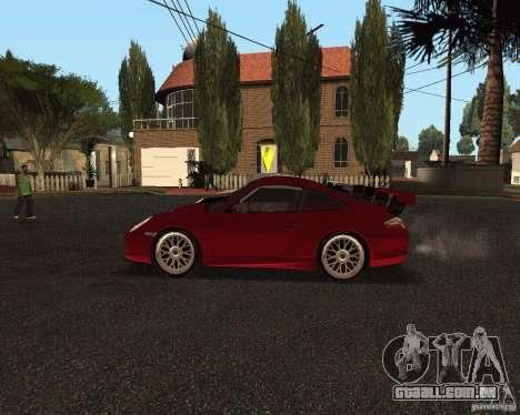 Porsche 911 GT3 RS para GTA San Andreas vista inferior